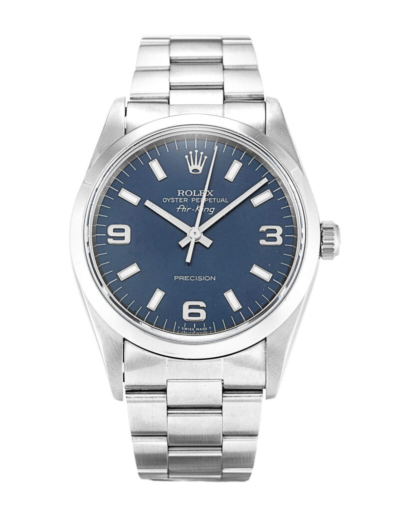Simple Rolex Replica Air-King 14000 34mm Blue Dial 1